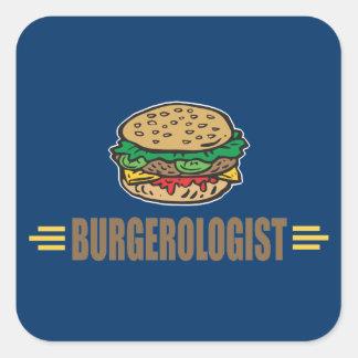 Funny Hamburger Square Sticker
