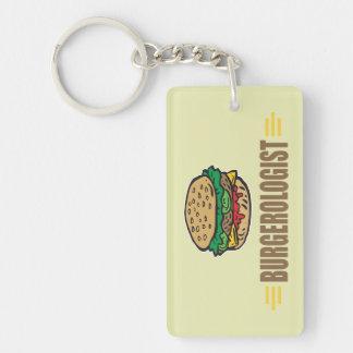 Funny Hamburgers Single-Sided Rectangular Acrylic Key Ring