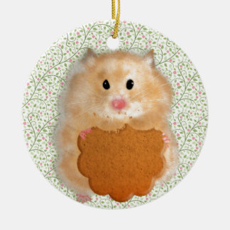Funny Hamster Character illustration Christmas Ornament