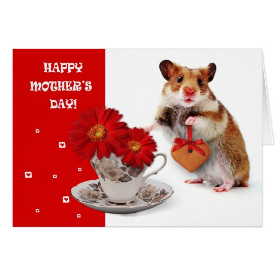 Funny Hamster Mother's Day Customisable Card