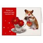 Funny Hamster Valentine's Day Greeting Cards