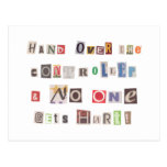 Funny Hand Over the Controller Ransom Note Collage