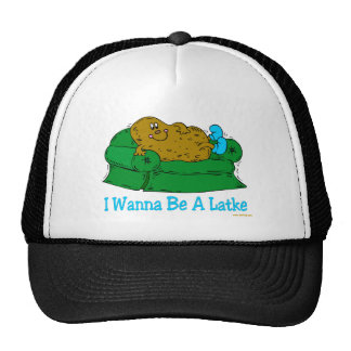 FUNNY HANUKKAH SHIRT 'IWANT TO BE A LATKE' HAT