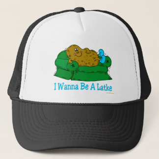 FUNNY HANUKKAH SHIRT 'IWANT TO BE A LATKE' TRUCKER HAT