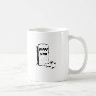 """Funny, """"Happy 60th"""" Gravestone design Mugs"""