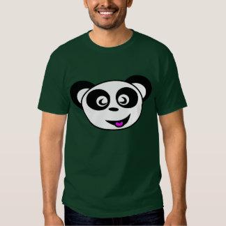Funny happy animated panda bear face shirt