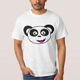Funny happy animated panda bear face T-Shirt