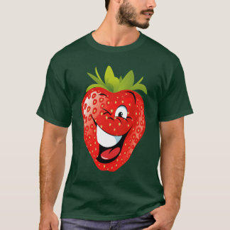 funny happy animated strawberry T-Shirt