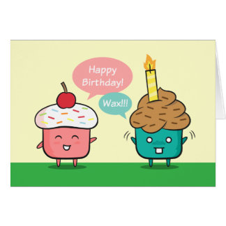 Funny Happy Birthday - Cupcake Candle Woes Greeting Card