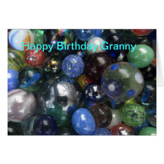 Funny Happy Birthday Granny Marbles Card
