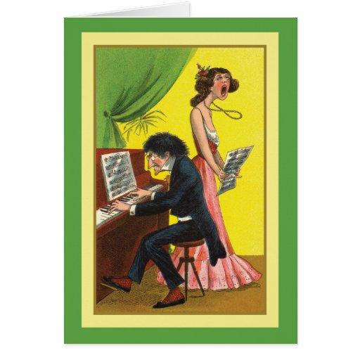 Funny Happy Birthday Music Theme Long Verse Greeting Card