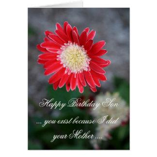 Funny Happy Birthday Son Greeting Card