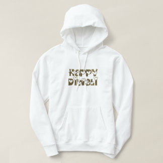 Funny Happy Diwali Hearts Typography Hooded Hoodie