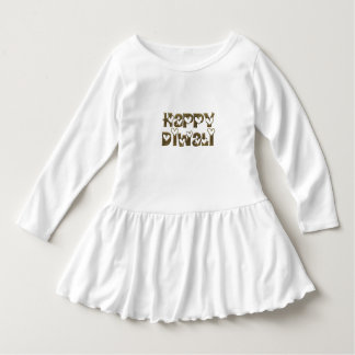 Funny Happy Diwali Hearts Typography Toddler Dress