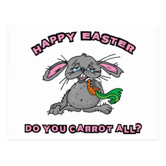 Funny Happy Easter Bunny Post Cards