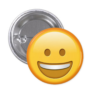 Funny happy emoji smiley button