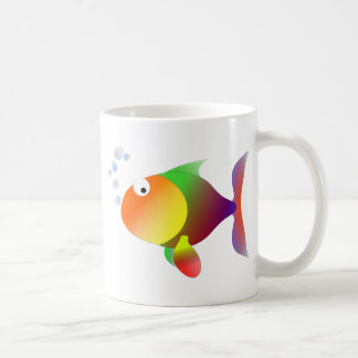 Funny happy fish coffee mug