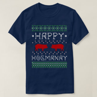"Funny ""Happy Hogmanay"" Ugly Scottish New Year T-Shirt"