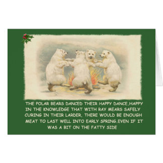 Funny happy holidays greeting card