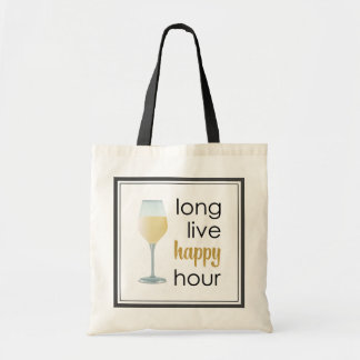 Funny Happy Hour Quote Tote Bag