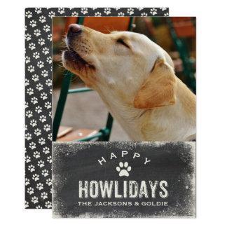 Funny Happy Howlidays Dog Lover Christmas Photo 13 Cm X 18 Cm Invitation Card