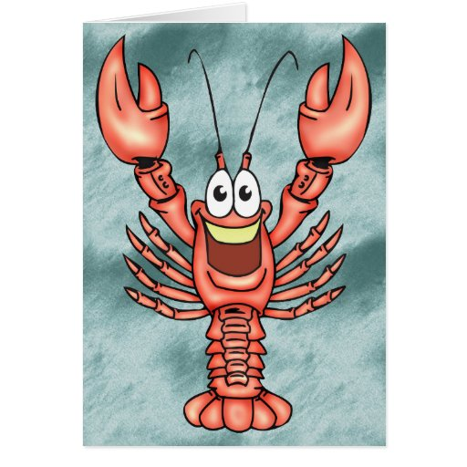 Funny Happy Lobster Cards