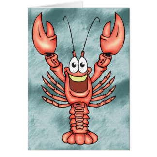Funny Happy Lobster Note Card