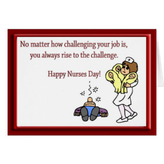 Funny Happy Nurses Day Baby Nurse Card