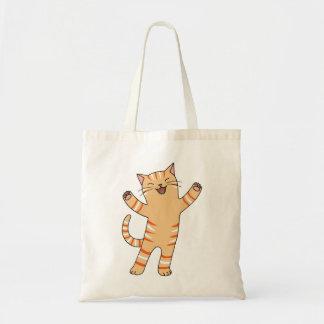 Funny Happy Orange Tabby Cat Cute Kitten Tote Bag