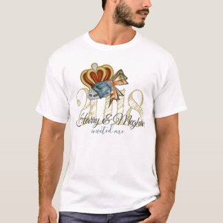 Funny Harry And Meghan Invited Me Wedding Souvenir T-Shirt