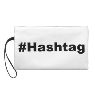 Funny Hashtag Wristlet Purses