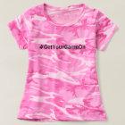 Funny Hashtag #GetYourGameOn Pink Camo Girls T-Shirt
