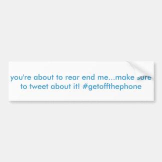 funny hashtag twitter bumper sticker