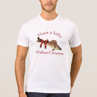 "Funny ""Have a Jolly Walleye Christmas"" T-Shirt"
