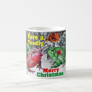 Funny Have a Toadly Merry Christmas Toad Mug