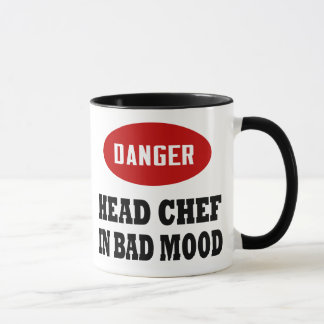 Funny Head Chef Mug