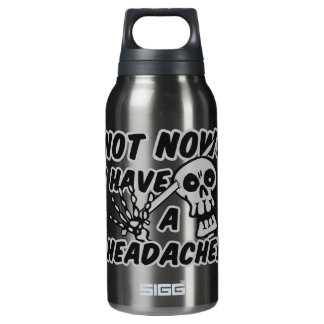 Funny Headache Skull Insulated Water Bottle