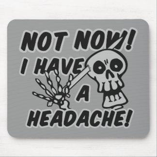 Funny Headache Skull mousepad