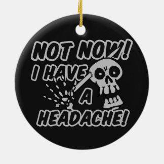 Funny Headache Skull ornaments
