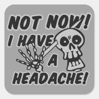 Funny Headache Skull stickers