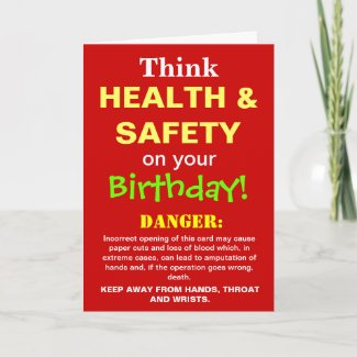 Funny Health and Safety Birthday Joke