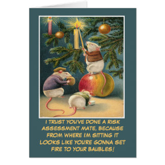 Funny health and safety Christmas Card