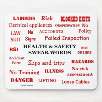 Funny Health and Safety Swear Words Joke Gift