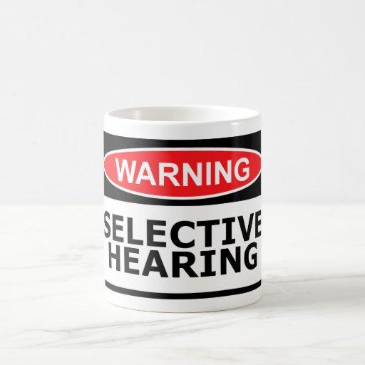 Funny hearing basic white mug