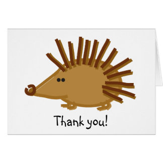 Funny Hedgehog on White Greeting Card