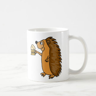 Funny Hedgehog Raising a Pint of Beer Coffee Mug