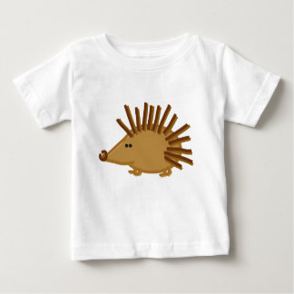 Funny Hedgehogs on White Baby T-Shirt