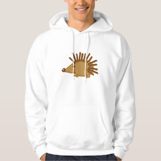 Funny Hedgehogs on White Hoodie
