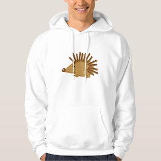 Funny Hedgehogs on White Sweatshirt