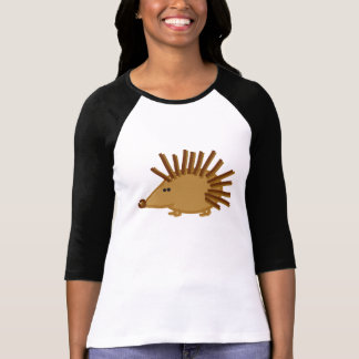 Funny Hedgehogs on White T-Shirt